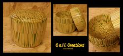 bamboo skewer pot
