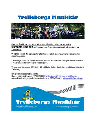 Annons trumpet om nya musiker 190615_pag