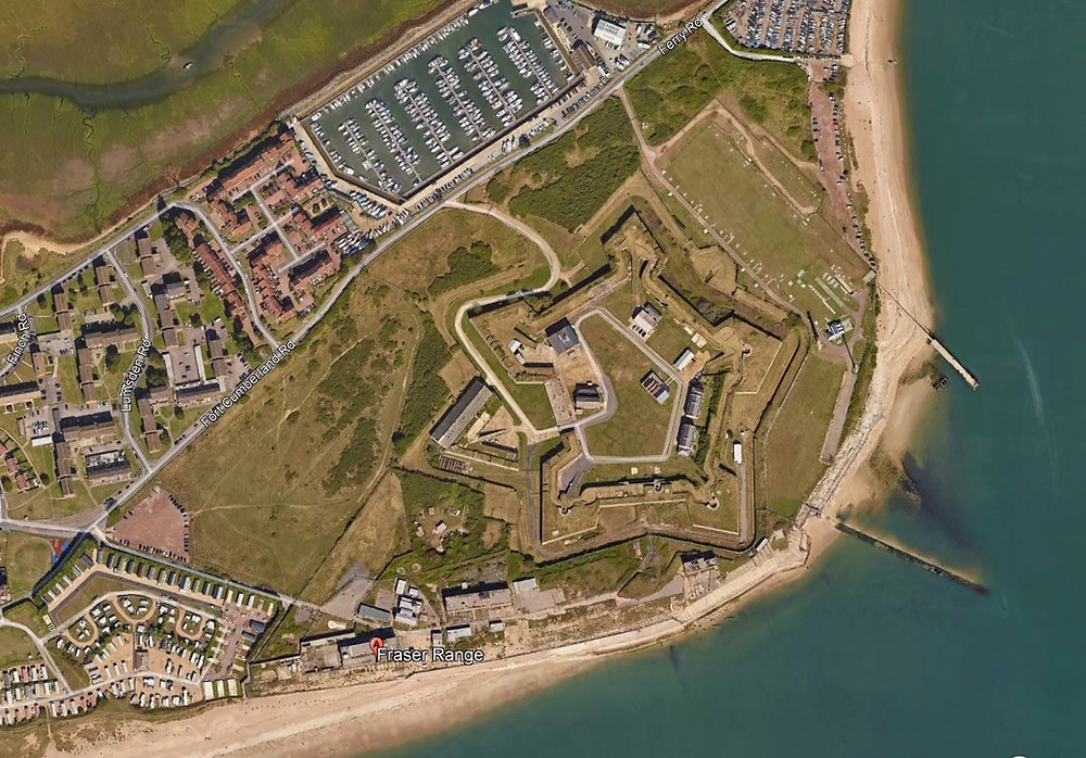 aerial view of Fort Cumberland. Pentagonal Forts