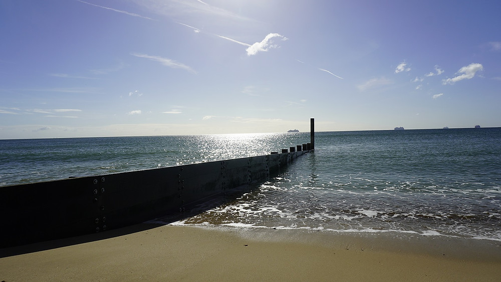 Southbourne beach, award winning in Dorset