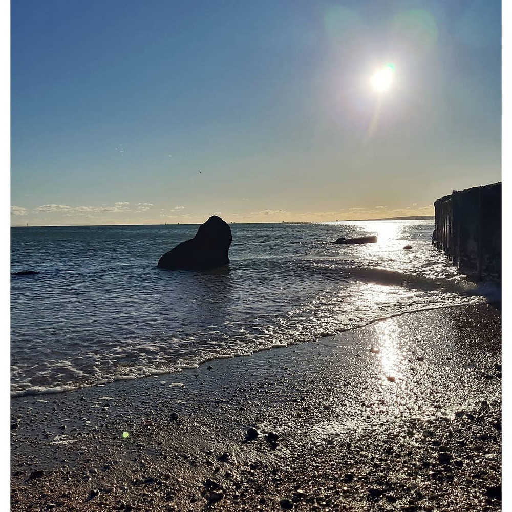 Winter sea coastal landscape shot