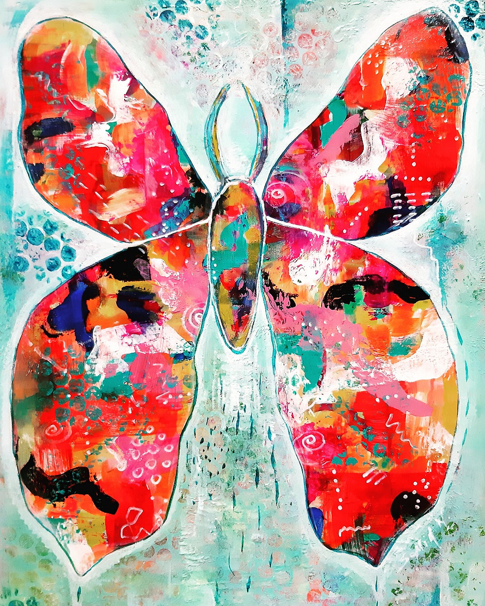 Beautiful nature art, butterfly intuitive paintings by Sonia Nowak