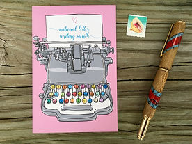National Letter Writing Month Postcard b