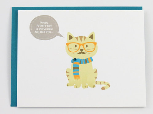 Cat Fathers Day Card