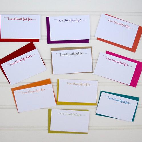 I Am Thankful Mini Cards
