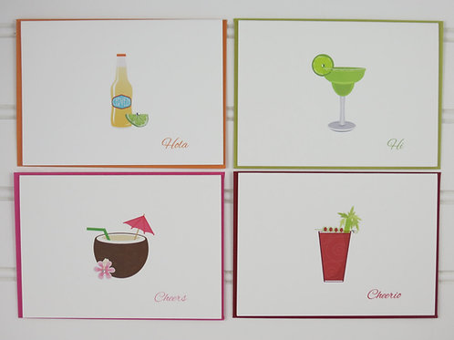 Cocktail Notecards