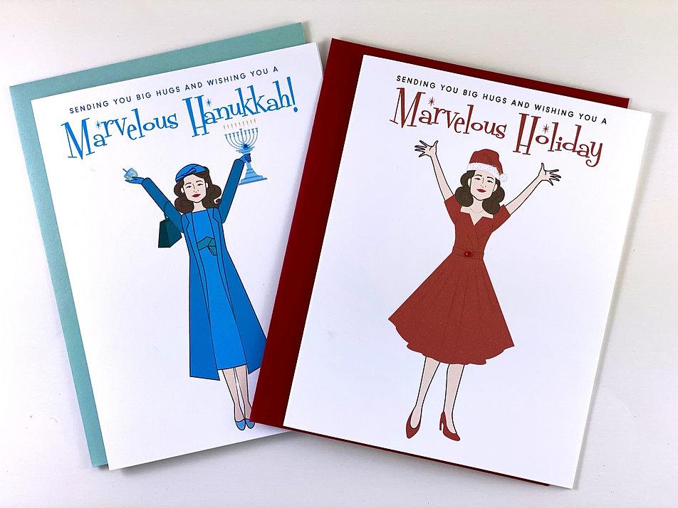 Mrs. Maisel Hanukkah Card by Playa Paper
