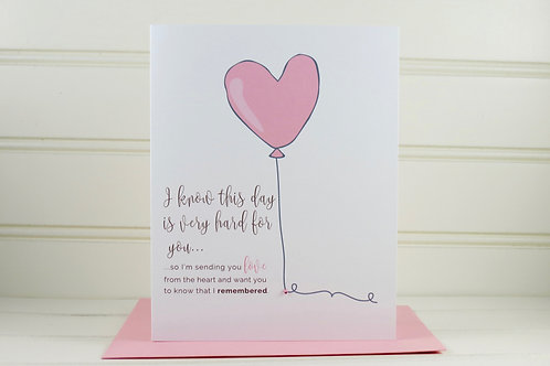 Mother's Day Grief Card