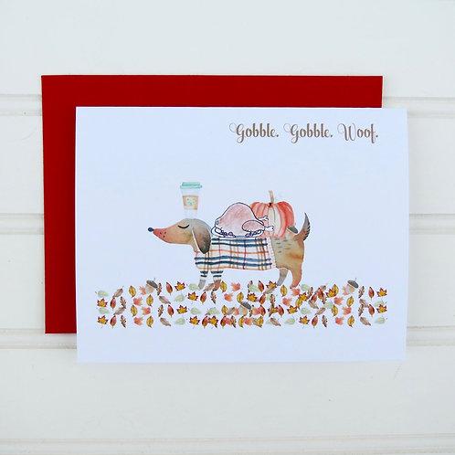 Thanksgiving Dog Card