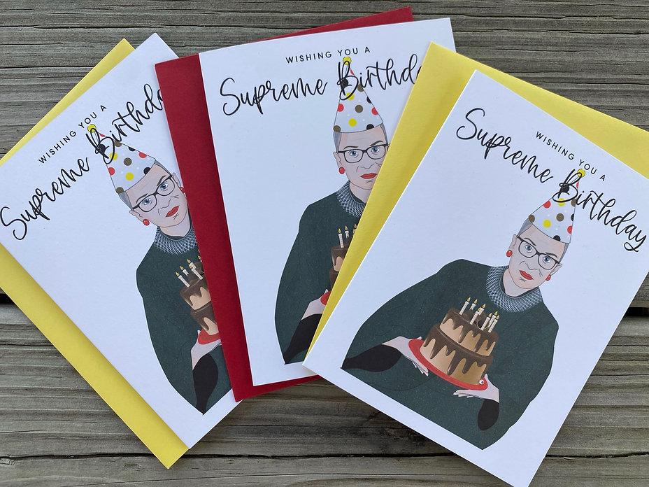 RBG Birthda Card by Playa Paper, Ruth Ba