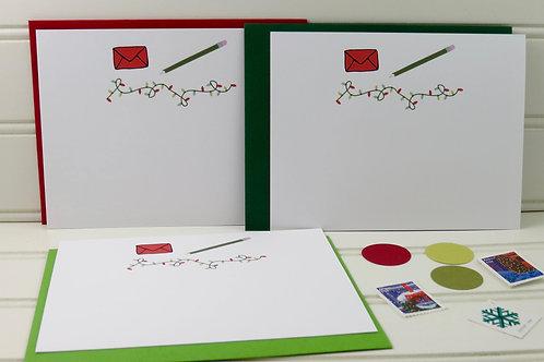 Set of Flat Christmas Cards