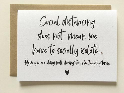 Social Distancing Card
