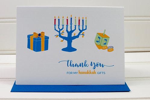 Hanukkah Thank You Card