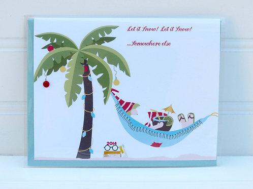 Beach Santa Card