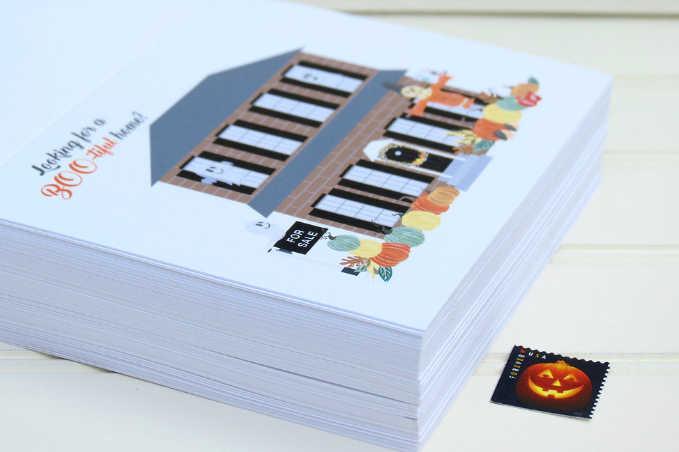 B2B Card by Playa Paper, Happy Halloween Card for Real Estate Agents by Playa Paper, Looki