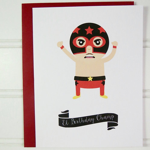 Lucha Libre Birthday Card