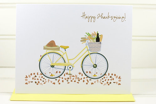 Bicycle Thanksgiving Card