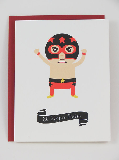 Lucha Libre Father's Day Card