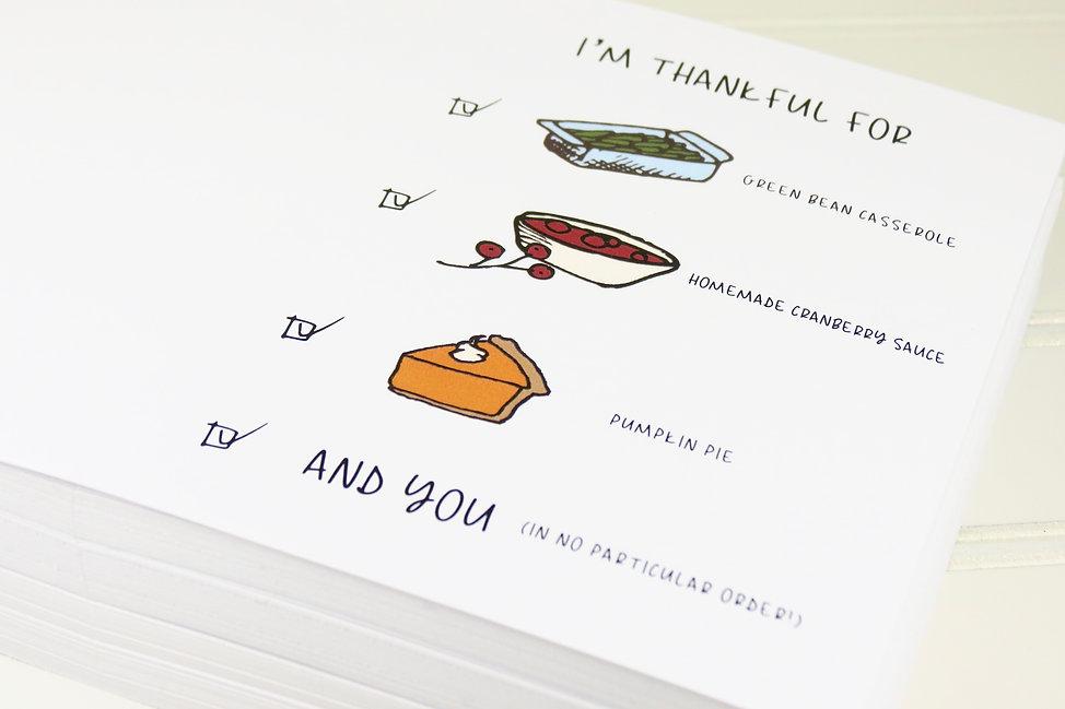 B2B Card by Playa Paper, Thanksgiving Ca