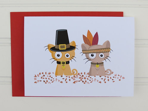 Thanksgiving Cat Card