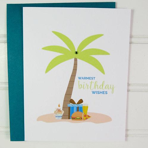 Tropical Beach Birthday Card