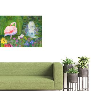 Flamingo Showers on Wall