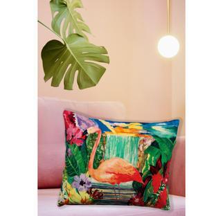 Flamingo Falls Cushion