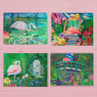 Limited Edition Flamingo Placemats