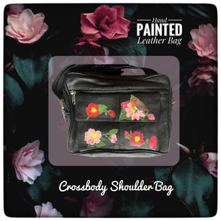 Hand-Painted Leather Bag