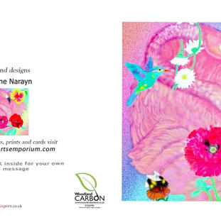 Flamingo Fantasy card