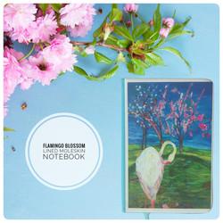 flamingo Blossom Moleskin Notebook