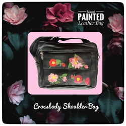 Hand Painted Crossbody Leather Bag
