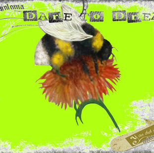 I Pad art Dare to Bee