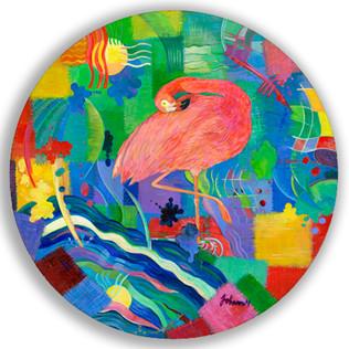Patchwork Flamingo