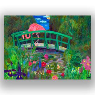 Flamingo on the Bridge
