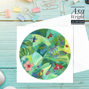 Asa Wright card with envelope