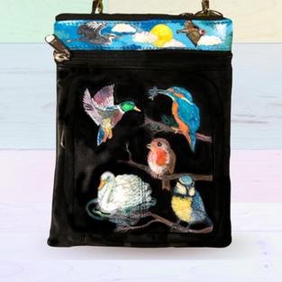 Birds Leather Bag
