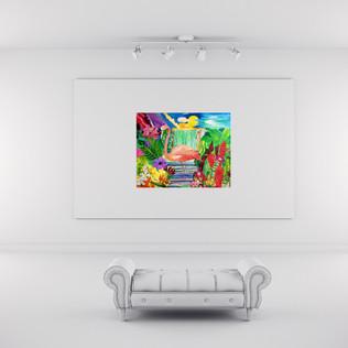 Flamingo Falls on Gallery Wall.jpg
