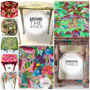 Decoupage Wooden Tables