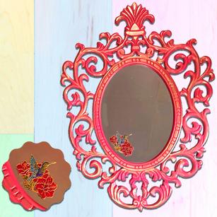 Hand painted Hummingbird Mirror