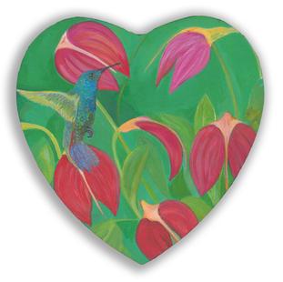 Hummingbird and Crestwood Flowers