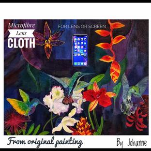 MicrofibreLens Cloth 'Hummingbird Carnival'