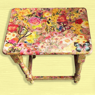Decoupage Wooden Table