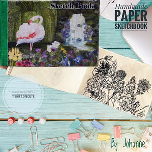Handmade Paper Flamingo Sketchbook