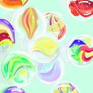 Marbles I Pad Art