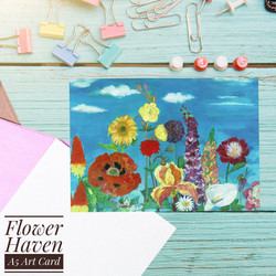 Flower Haven Greetings Card with envelope