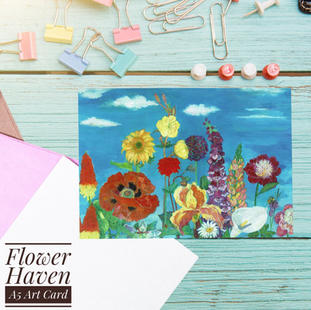 Flower Haven card with envelope