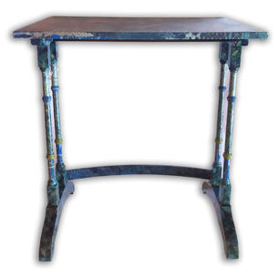 Table Blue Tartan Collage