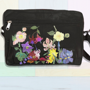 Flowers Leather Bag