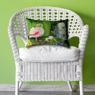 Flamingo Showers Cushion